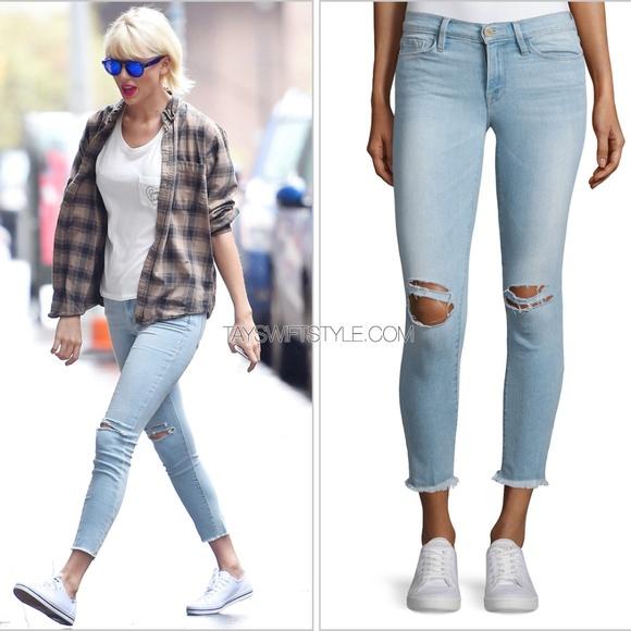 Frame Denim Jeans | Frame Le Skinny De Jeanne Crop Jean In Honeywood ...